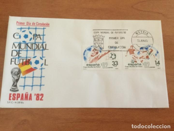 ESPAÑA 1982 SOBRE PRIMER DÍA. COPA MUNDIAL DE FUTBOL ESPAÑA 82 (Sellos - Historia Postal - Sello Español - Sobres Primer Día y Matasellos Especiales)