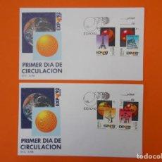 Sellos: EXPO 92' SEVILLA - EDIFIL 2990/91/92/93 COMPLETA - MATASELLO 1989 - SOBRE PRIMER DIA ... L1991. Lote 219061183