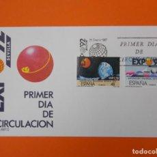 Sellos: EXPO 92' SEVILLA - EDIFIL 2875/76 -1987 - SOBRE PRIMER DIA ... L2003. Lote 219063526