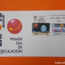 Sellos: EXPO 92' SEVILLA - EDIFIL 2875/76 -1987 - SOBRE PRIMER DIA ... L2004. Lote 219063561