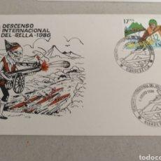 Sellos: 50 DESCENSO INTERNACIONAL DEL SELLA EN PIRAGUAS. RIBADESELLA 9 DE AGOSTO DE 1986. Lote 219063691