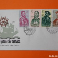 Sellos: FORJADORES DE AMERICA , MATASELLO 1962, EDIFIL 1454/55/56/57 , SOBRE ILUSTRADO...L2031. Lote 219169148