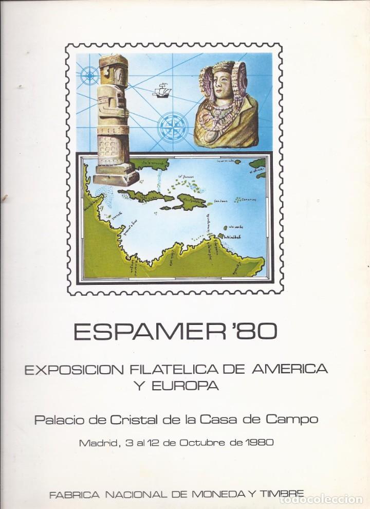 Sellos: DOCUMENTO FILATELICO Nº 12 ESPAMER 80 con sello serie BASICA JUAN CARLOS I - Foto 2 - 219434787