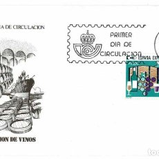 Timbres: SOBRE PRIMER DÍA. ESPAÑA EXPORTA. EXPORTACIÓN DE VINOS 30 SET 1981. Lote 219545910