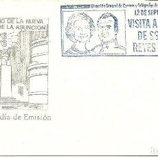 Sellos: SOBRE CON EL MATASELLOS ESPECIAL VISITA REYES A GUATEMALA. Lote 219655208