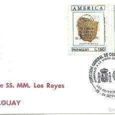 Sellos: SOBRE CON EL MATASELLO ESPECIAL VISITA REYES A PARAGUAY. Lote 219655468