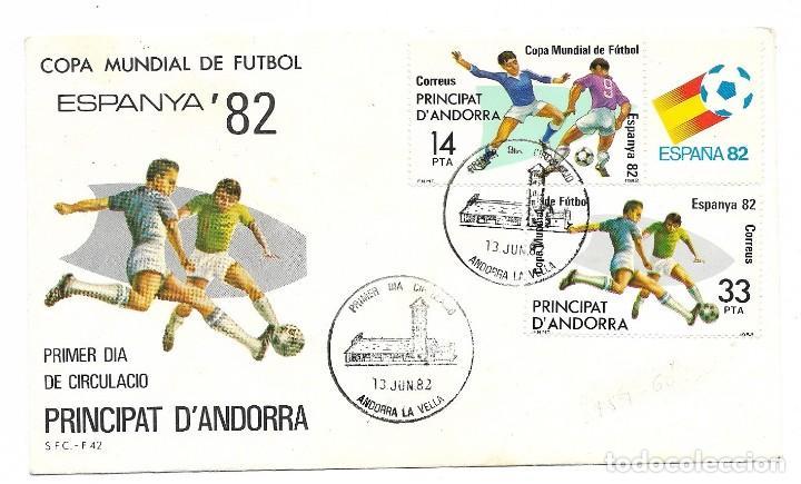 SOBRE ESPANYA 82. PRINCIPAT D'ANDORRA (Sellos - Historia Postal - Sello Español - Sobres Primer Día y Matasellos Especiales)