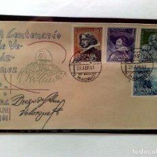 Sellos: SOBRE (PD) PRIMER DIA CIRCULACIÓN SH 1344/1347 (F.D.C.1961) III CENTENARIO DE VELAZQUEZ,SIN DENTAR.. Lote 220842917