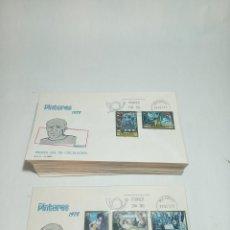 Sellos: LOTE DE 57 SOBRES PINTORES 1978. PICASSO. PRIMER DÍA DE CIRCULACIÓN.DIF. SELLOS. 29.09.78. Lote 221151988