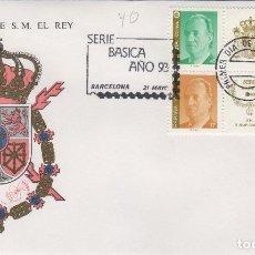 Timbres: 1993 ED 3259/62 SERIE BÁSCIA REY D. JUAN CARLOS SOBRE PRIMER DIA SPD. Lote 221406293