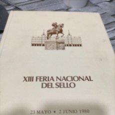 Sellos: XIII FERIA NACIONAL DEL SELLO CONJUNTO DE SOBRES Y HOJAS RECUERDOS - EJ. NUMERADO FUTBOLL ESPAÑA 82. Lote 221703865