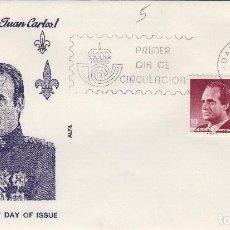 Timbres: 1986 ED SERIE BÁSICA , D. JUAN CARLOS REY . SOBRE ALFIL PRIMER DIA SPD. Lote 221815498