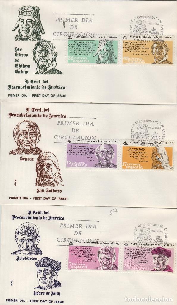 1986 ED 2860/5 V CENTENARIO DEL DESCUBRIMIENTO , . SOBRE ALFIL PRIMER DIA SPD (Sellos - Historia Postal - Sello Español - Sobres Primer Día y Matasellos Especiales)