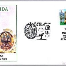 Sellos: MATASELLOS PRIMER DIA - 12 MESES 12 SELLOS - LLEIDA. LLEIDA 2020. Lote 221951681