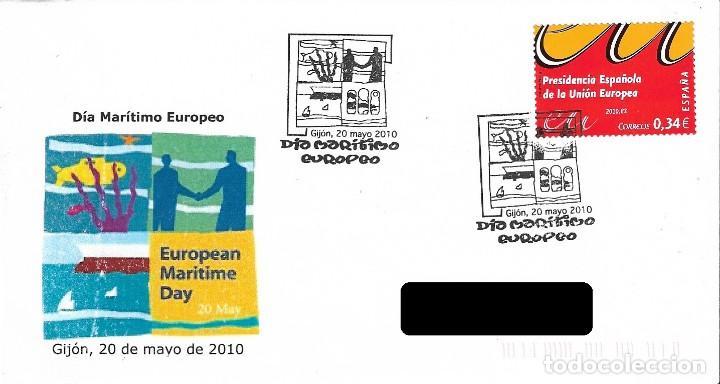 ESPAÑA. MATASELLOS ESPECIAL. EUROPEAN MARITIME DAY. 2010 (Sellos - Historia Postal - Sello Español - Sobres Primer Día y Matasellos Especiales)