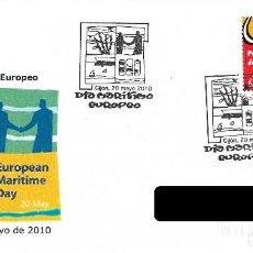 Sellos: ESPAÑA. MATASELLOS ESPECIAL. EUROPEAN MARITIME DAY. 2010. Lote 222074258