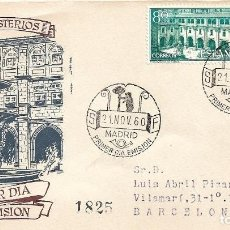 Sellos: REAL MONASTERIO DE SAMOS LUGO 1960 (EDIFIL 1322/23) EN SPD CIRCULADO DEL SERVICIO FILATELICO. RARO.. Lote 222132446