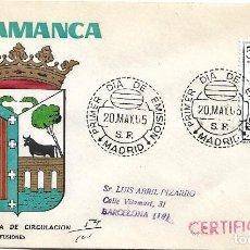 Sellos: ESCUDO DE SALAMANCA 1965 MATASELLOS MADRID (EDIFIL 1635) EN SOBRE PRIMER DIA CIRCULADO MS. RARO ASI.. Lote 222551747