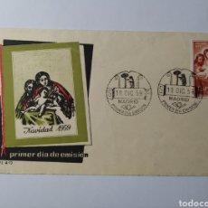 Sellos: ESPAÑA 1959 NAVIDAD, EDIFIL 1253 SPD, SOBRE PRIMER DÍA. Lote 222581770