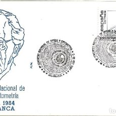 Sellos: MEDICINA OPTICA Y OPTOMETRIA 8º CONGRESO, SALAMANCA 1984 RARO MATASELLOS EN SOBRE FRANQUEO BARRAQUER. Lote 222605813