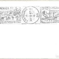 Sellos: COLON EN LA ISLA 495 ANIV IBEROAMERICA 87, LAS PALMAS (CANARIAS) 1987. RARO MATASELLOS RODILLO SOBRE. Lote 222657783