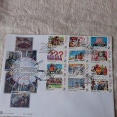 Sellos: AÑO 2000 ESPAÑA EPISTOLAR ESCOLAR EDIFIL 3732/43 MATASELLO ESPECIAL PRIMER DÍA CIRCULACIÓN. Lote 222674231