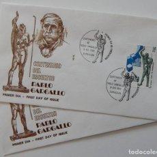 Sellos: 2 SPD EN ALFIL MADRID S.F. Y ZARAGOZA 1982 / CENTENARIO DEL ESCULTOR PABLO GARGALLO. Lote 222680158