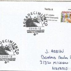 Sellos: MADRID CC CON ATM COVID 19 Y MAT ESPECIAL VIRUS MEDICINA ENFERMEDAD. Lote 222689571