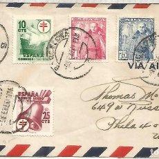 Sellos: BARCELONA A USA CC 1950 SELLOS LUCHA CONTRA LA TUBERCULOSIS MEDICINA ENFERMEDAD. Lote 222689791