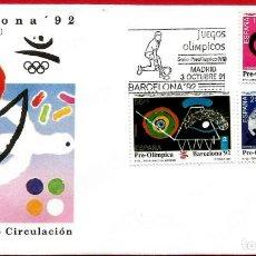 Sellos: EDIFIL 3134/36 BARCELONA'92 SERIE PREOLÍMPICA - PRIMER DÍA. Lote 222689881