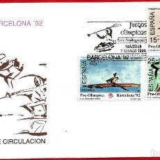Sellos: EDIFIL 3104/06 BARCELONA'92 SERIE PREOLÍMPICA - PRIMER DÍA. Lote 222690611