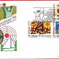 Sellos: EDIFIL 3157/59 BARCELONA'92 SERIE PREOLÍMPICA - PRIMER DÍA. Lote 222691268