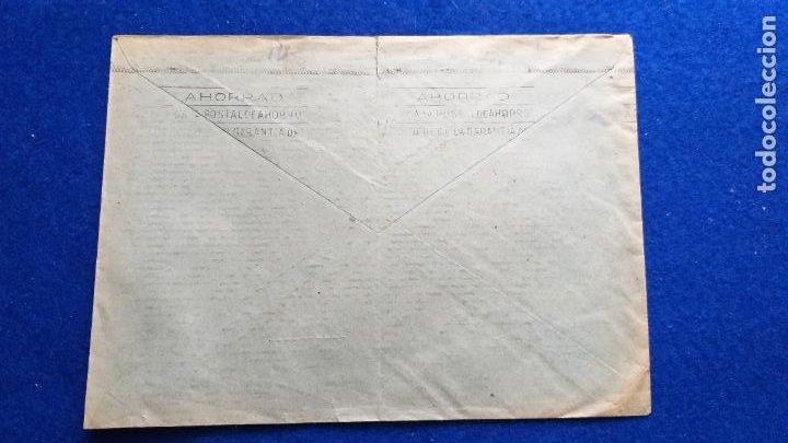 Sellos: SOBRE CON MATASELLOS DE LA EXPOSICION FILAT CENTENARIO DEL FERROCARRIL, BARCELONA. AÑO 1948. TRENES - Foto 3 - 222866561