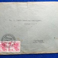Sellos: SOBRE CON MATASELLOS DE LA EXPOSICION FILAT CENTENARIO DEL FERROCARRIL, BARCELONA. AÑO 1948. TRENES. Lote 222866561