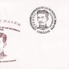 Selos: LOS ULTIMOS DE FILIPINAS HEROE BALER ENRIQUE DE LAS MORENAS, CHICLANA (CADIZ) 1998. MATASELLOS RARO. Lote 223223225