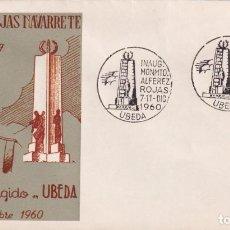 Sellos: INAUGURACION MONUMENTO ALFEREZ ROJAS NAVARRETE, UBEDA (JAEN) 1960 MATASELLOS EN SOBRE ALFIL RARO ASI. Lote 223231037