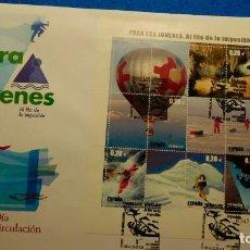Sellos: SOBRE DE PRIMER DIA. AL FILO DE LO IMPOSIBLE 2005 PARA LOS JOVENES. Lote 224805475