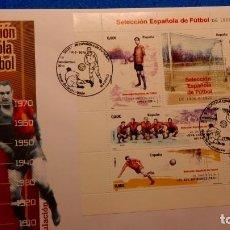 Sellos: SOBRE DE PRIMER DIA. SELECCION ESPAÑOLA DE FUTBOL DE 1900 A 1970. Lote 224806481