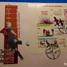 Sellos: SOBRE DE PRIMER DIA. SELECCION ESPAÑOLA DE FUTBOL DE 1900 A 1970. Lote 224806945