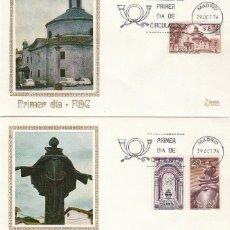Sellos: EDIFIL 2375/7, BICENTENARIO SAN PEDRO DE ALCANTARA (AVILA) PRIMER DIA 29-10-1976 2 SOBRES DE MUNDO. Lote 224875762