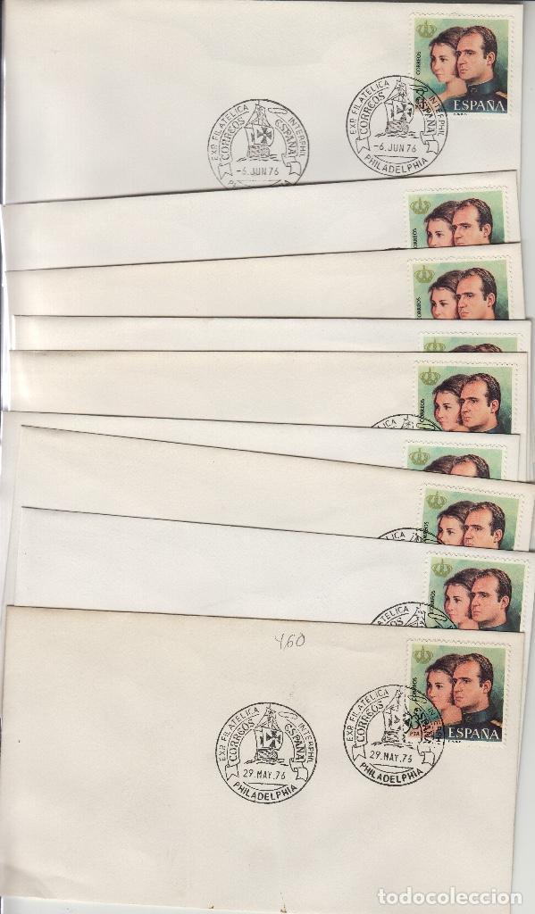 1976 PHILADELPHIA EXPOSICION INTERPHIL CORREOS DE ESPAÑA BARCOS CALENDARIO 29MAY/6JUN . SOBRE (Sellos - Historia Postal - Sello Español - Sobres Primer Día y Matasellos Especiales)