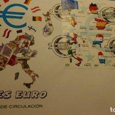 Sellos: SOBRE PRIMER DIA,PRIMER DIA, ESPAÑA, PAISES DEL EURO . BANDERA COMUNITARIA, 28 DE MAYO DE 1999.. Lote 225641281