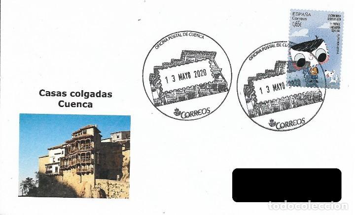 ESPAÑA. MATASELLOS ESPECIAL. CASAS COLGADAS. CUENCA. 2020 (Sellos - Historia Postal - Sello Español - Sobres Primer Día y Matasellos Especiales)