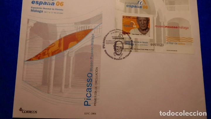 SOBRE DEL PRIMER DIA, EXPOSICIÓN MUNDIAL DE FILATELIA DE MÁLAGA 2006, (Sellos - Historia Postal - Sello Español - Sobres Primer Día y Matasellos Especiales)