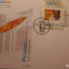 Sellos: SOBRE DEL PRIMER DIA, EXPOSICIÓN MUNDIAL DE FILATELIA DE MÁLAGA 2006,. Lote 226119702