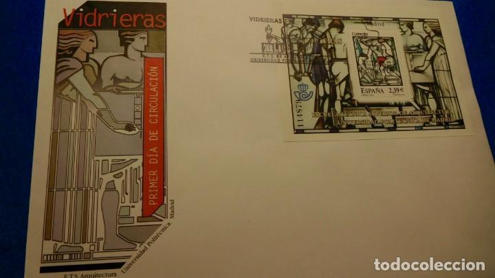 SOBRE DEL PRIMER DIA, ETS, VIDRIERAS UNIVERSIDAD POLITÉCNICA DE MADRID, 1985 (Sellos - Historia Postal - Sello Español - Sobres Primer Día y Matasellos Especiales)
