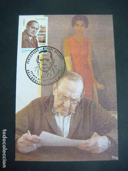 TARJETA 1º DIA DE CIRCULACION PERSONAJE MIGUEL DELIBES 3-OCTUBRE 2011 (Sellos - Historia Postal - Sello Español - Sobres Primer Día y Matasellos Especiales)