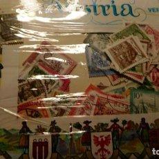 Sellos: SOBRE DEL PRIMER DIA,DE 90 A 100 SELLOS DE LOS AÑOS 80, USADOS DE AUSTRIA.. Lote 226140980