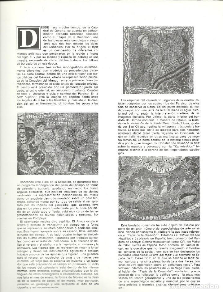 Sellos: Documento filatélico de la FNMT Barnafil 80 , con la HB matasellada , tapiz de la creación - Foto 3 - 226683655