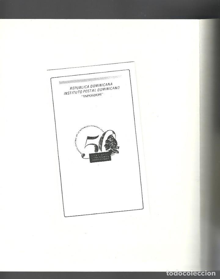 Sellos: Documento para conmemorar el 50 aniversario del Banco Central, Rep.Dominicana - Foto 3 - 226684480